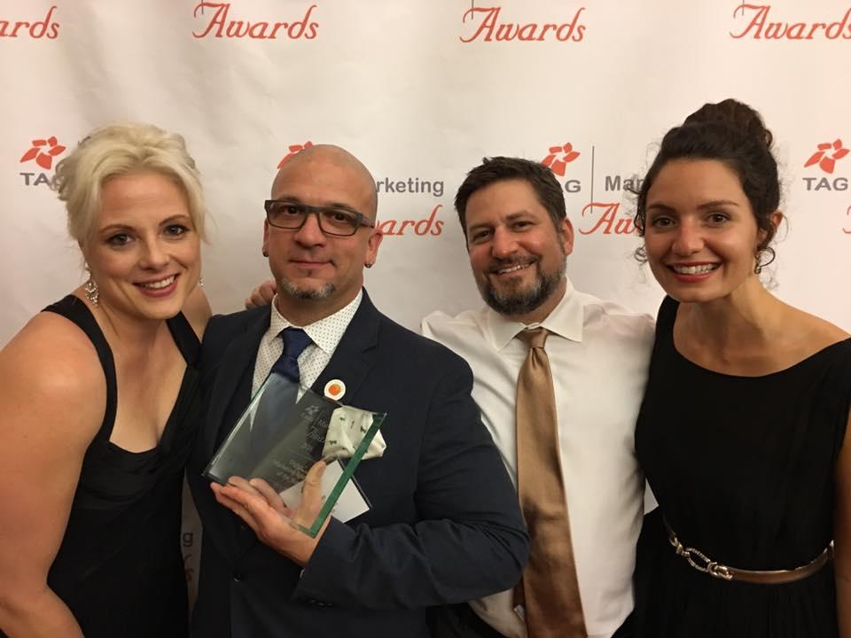 Crystal, Javier, David and Olivia at the 2016 TAG Marketing Awards