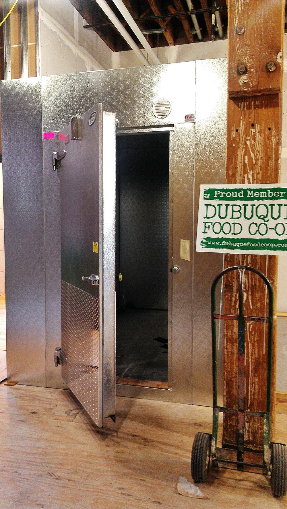 Door leading into Grocery freezer