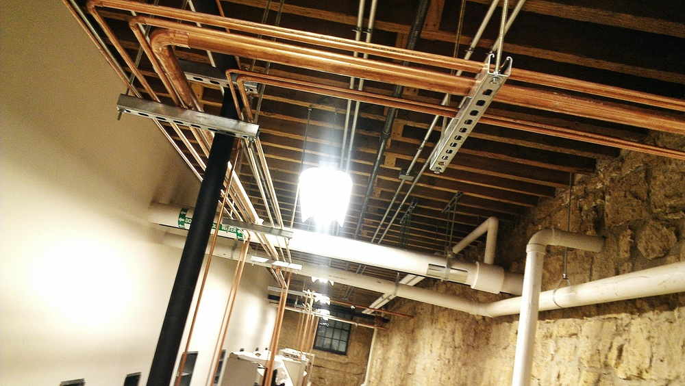 Lots of new piping and plumbing!