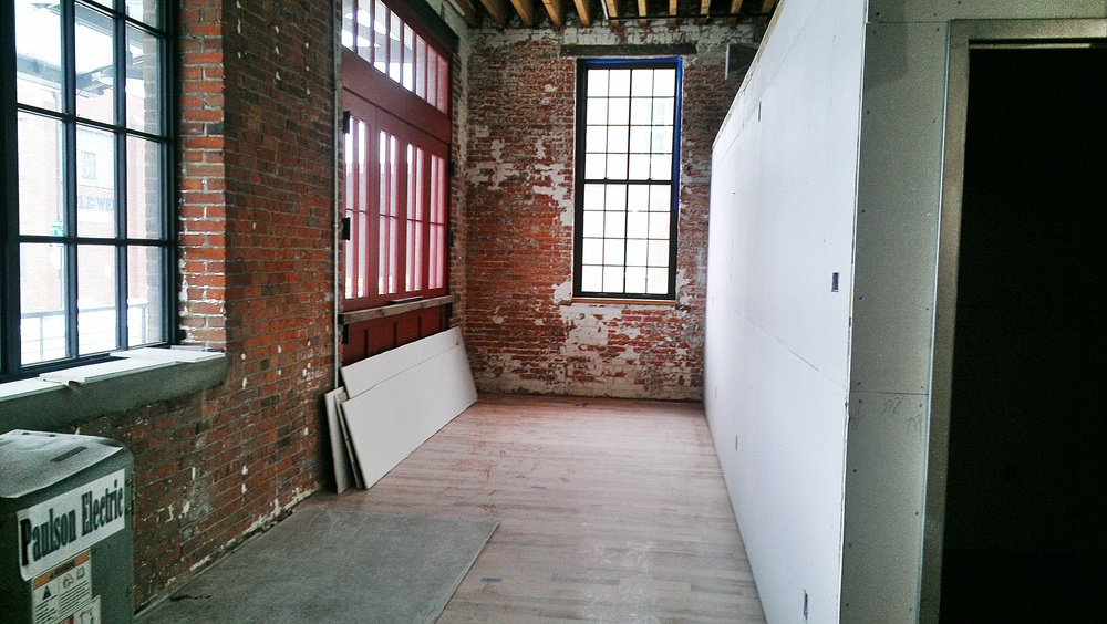The future seating area (with lots of natural light).
