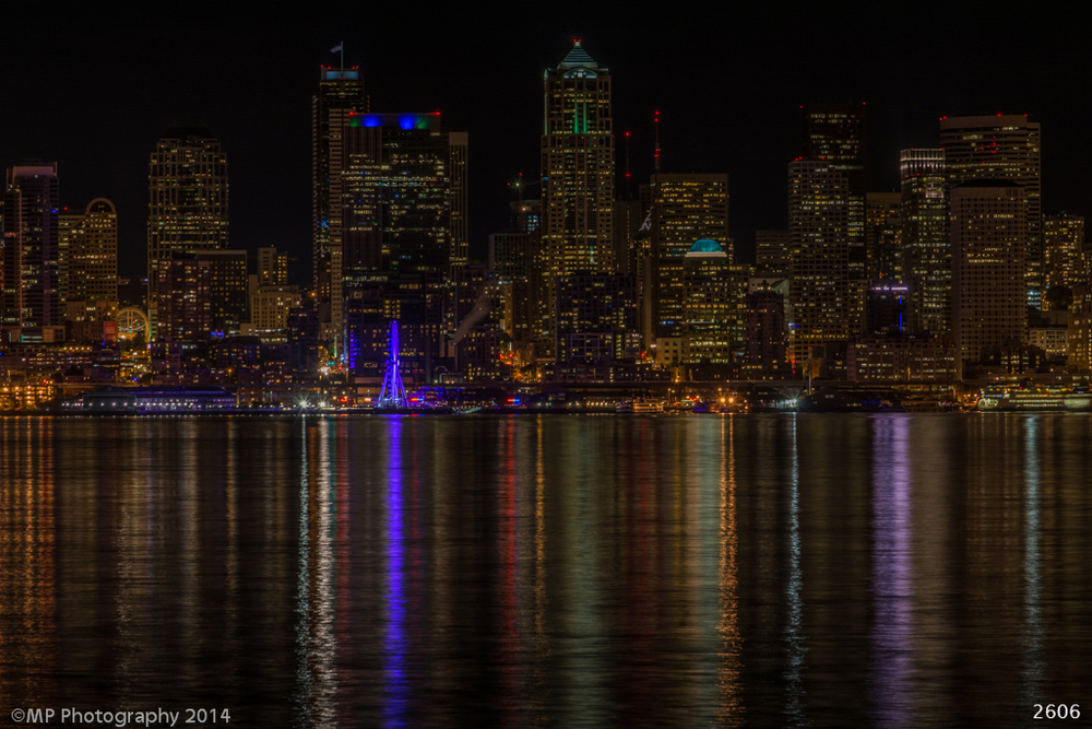 Seattle in the dark
