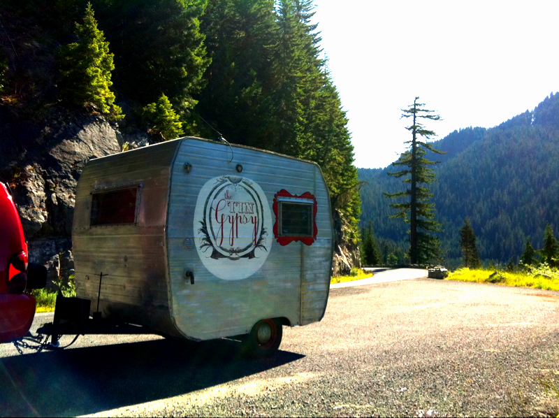 The Tin Gypsy riding through the Ranier National Forest