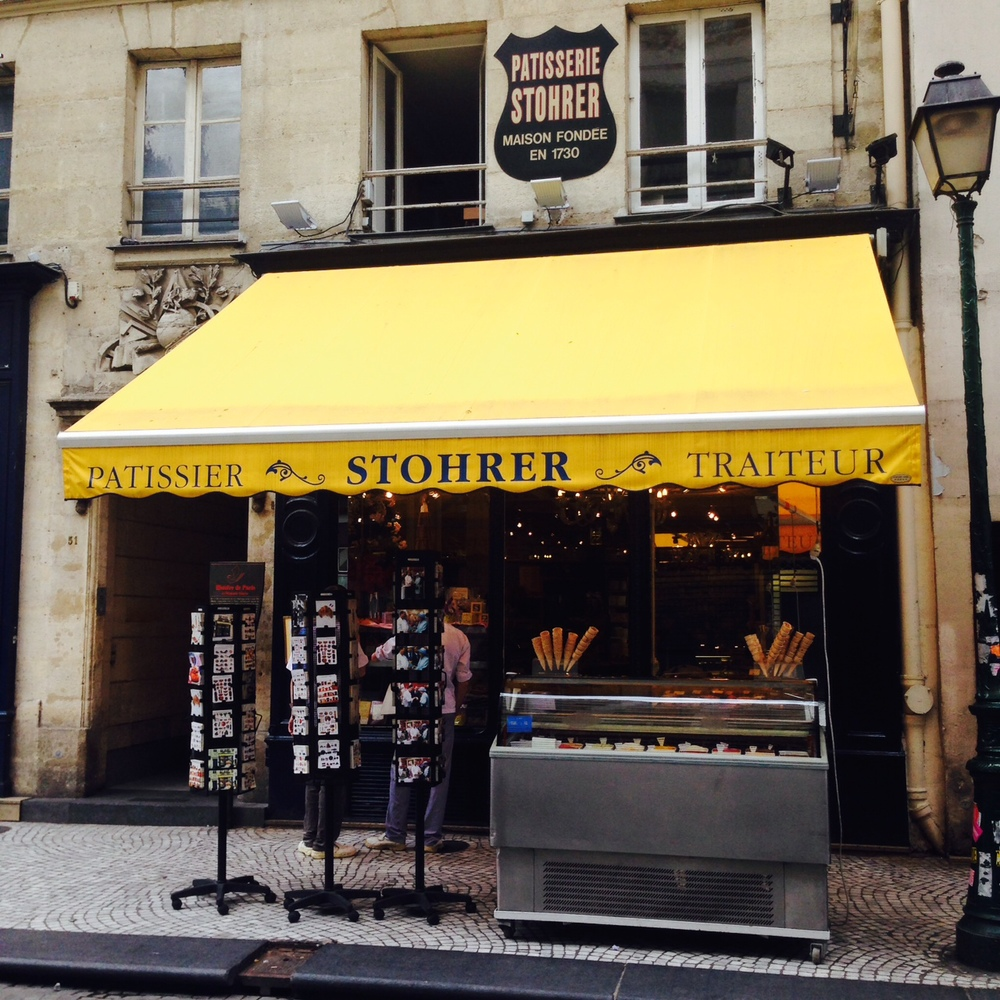 Stohrer is set on a cobblestone street in Paris with other charming shops but called out to me the most.  More to come soon with all their unique treats and interior.