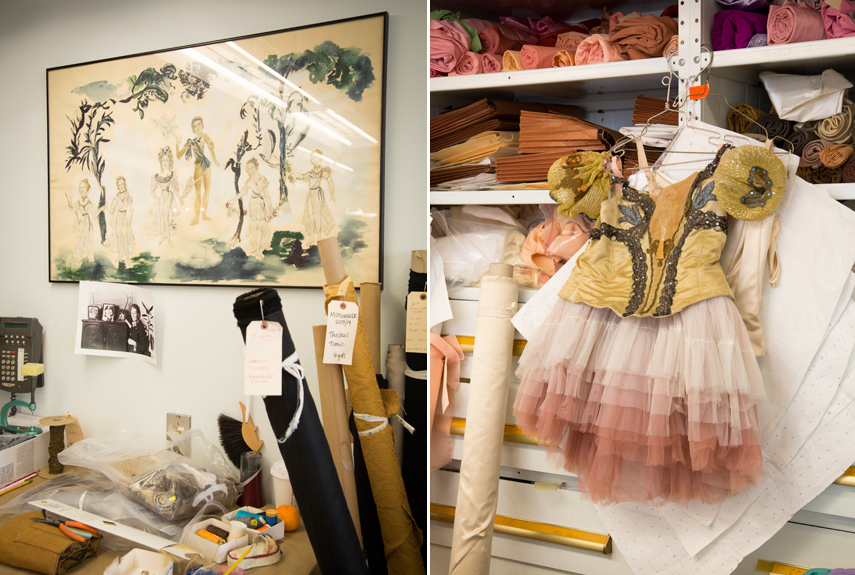 On the right is a costume that has been danced in since the 1950's.  it's beautiful but you can tell it's lost it's sparkle.  One of the reasons the costumes were redone.