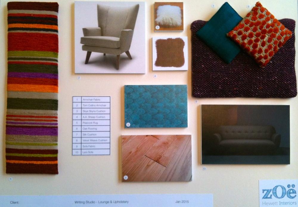Zoe Hewett Interiors Mid Century Lounge