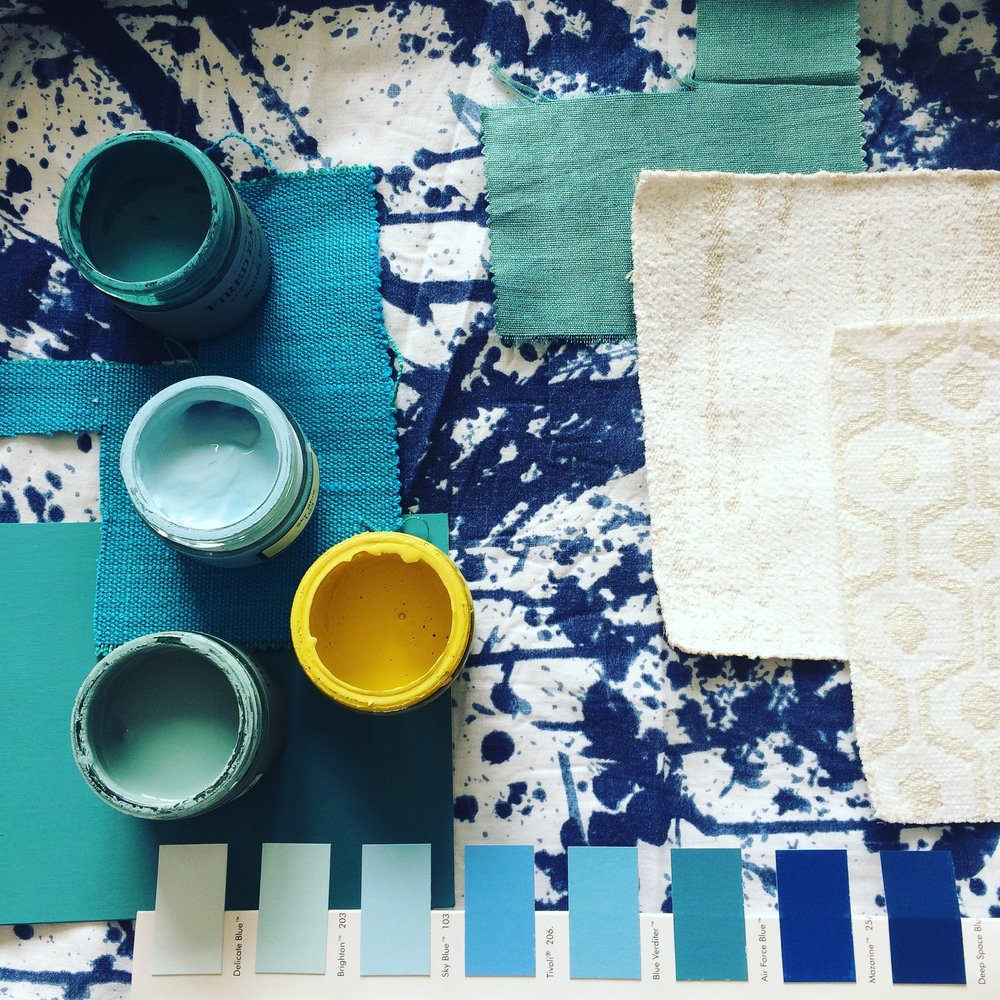 Zoe Hewett Interiors Blue Yellow Moodboard.JPG