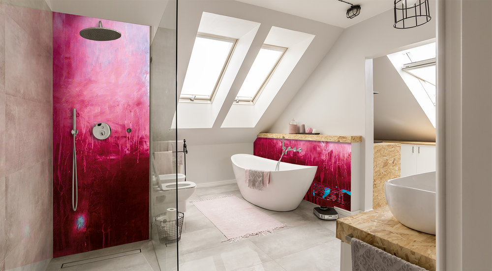 Red Dog Glass Design Shower