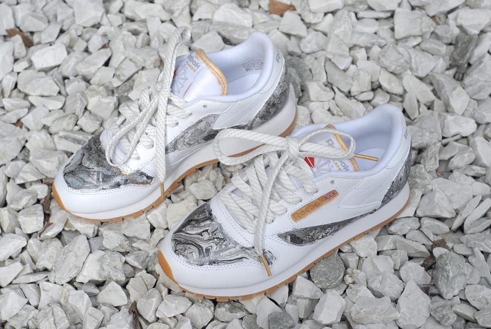 b83e0d71f0b97 shegotstyle  My Reebok Classic s  StepForward Custom Marble Sneakers ...