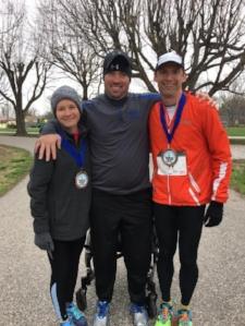 TBF 2017 Steps for Hope Half Marathon 1st Place Women's Division Abby Laux, Travis Burkhart & 1st Place Men's Division John Kensek.