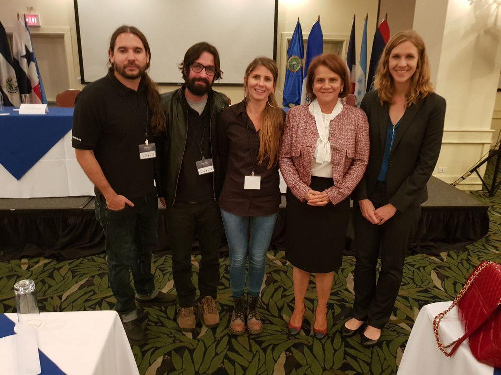 La Fuerza Pública de Costa Rica y la Policía Nacional de República Dominicana, fueron algunos de los cuerpos policiales que estuvieron en el Encuentro. La Directora Ejecutiva de la Fundación Acción Joven, Anna Zimbrick fue la maestra de ceremonias del Encuentro, que se prolongó por dos días.