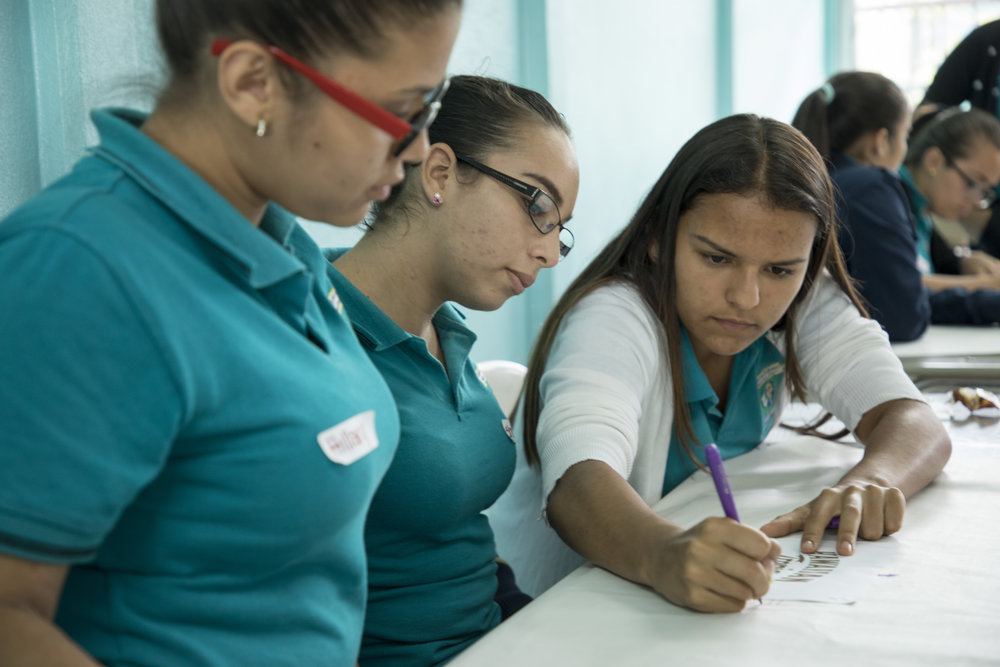 Estudiantes del CTP Uladislao Gámez Solano, Tirrases.