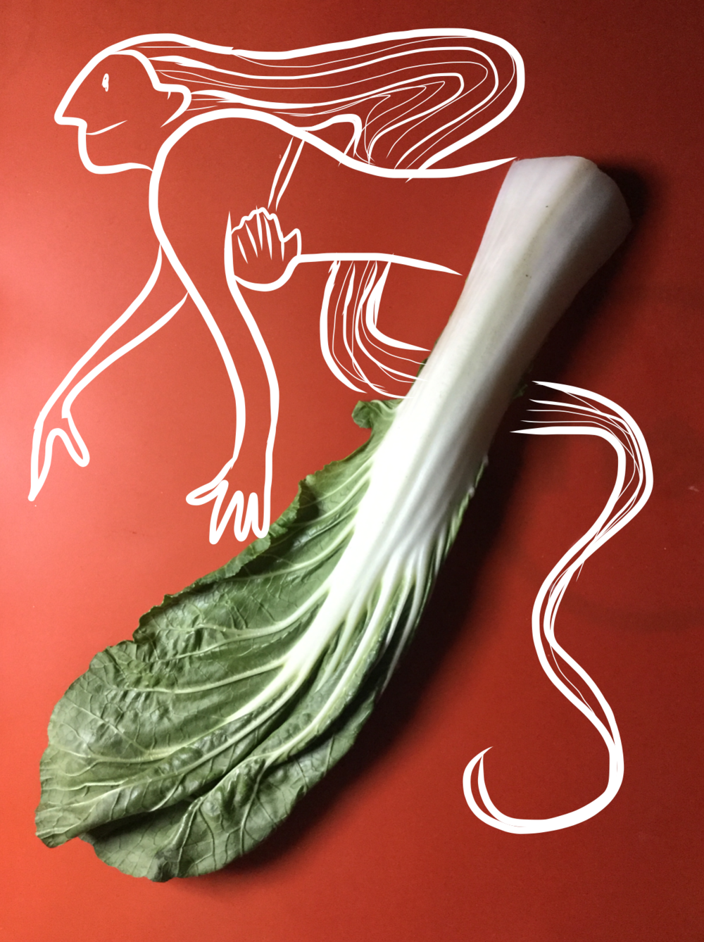 Bok Choy Mermaid