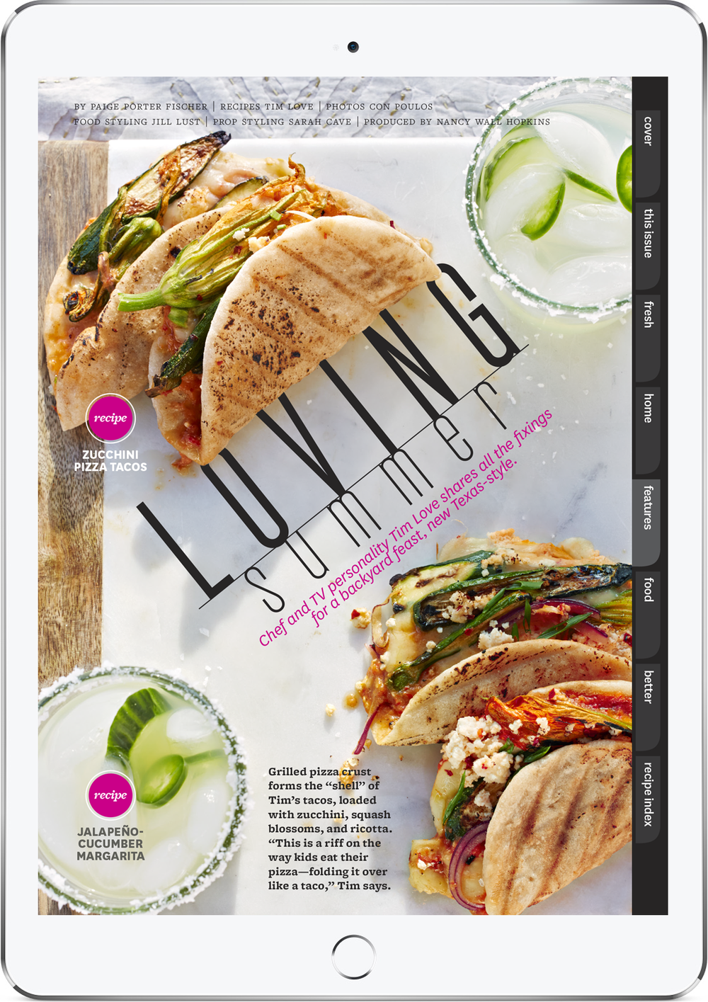 Loving Summer, June 2015 tablet edition