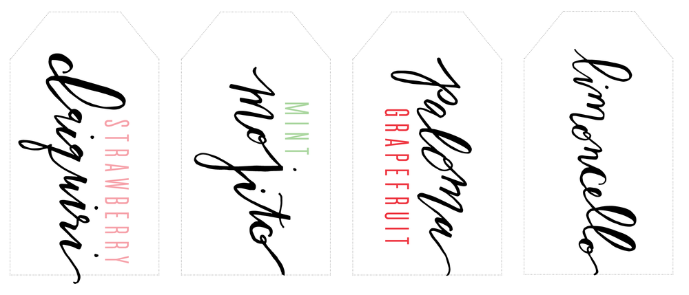 drink tags for Sweet Lulu Party download
