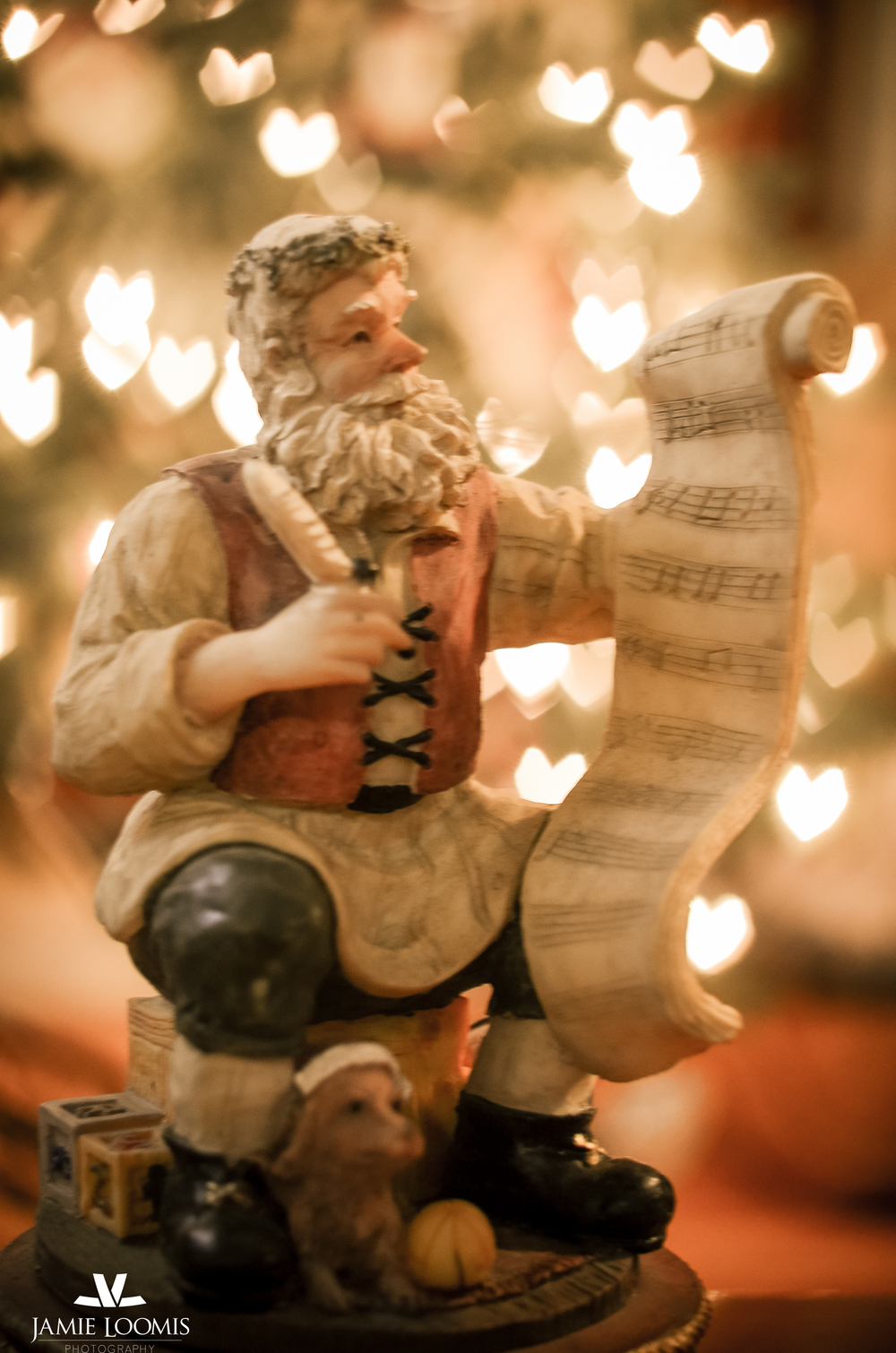 A Santa musicbox my husband gave me our first Christmas together. Since then I have collected a few others but this one is still my favorite!