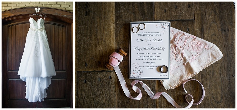 "Since Sean is in the ""Navy"", navy and blush were the perfect fit for their wedding colors."
