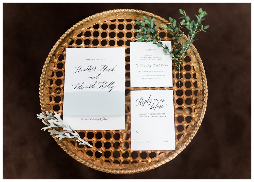 This table belonged to the bride's grandmother.  Special touches everywhere!