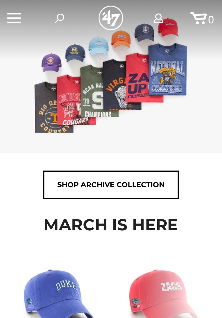 47 Brand for March Madness