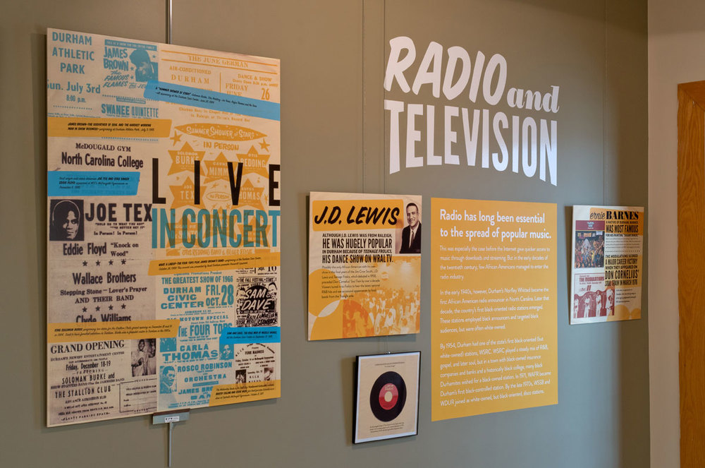 Radio and TV's relationship to the Durham Soul scene