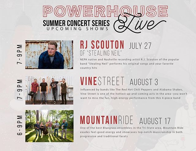 Join the @powerhouseeatery for their Powerhouse Live summer concert series!
