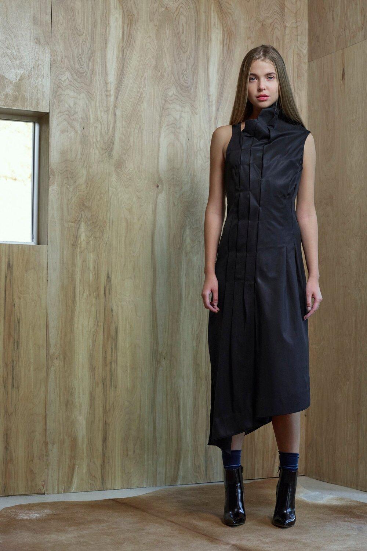 Melissa Fleis Pleated Black Dress1.jpg