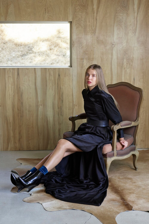 Melissa Fleis Black Gown & Blouse - Sitting Up1.jpg