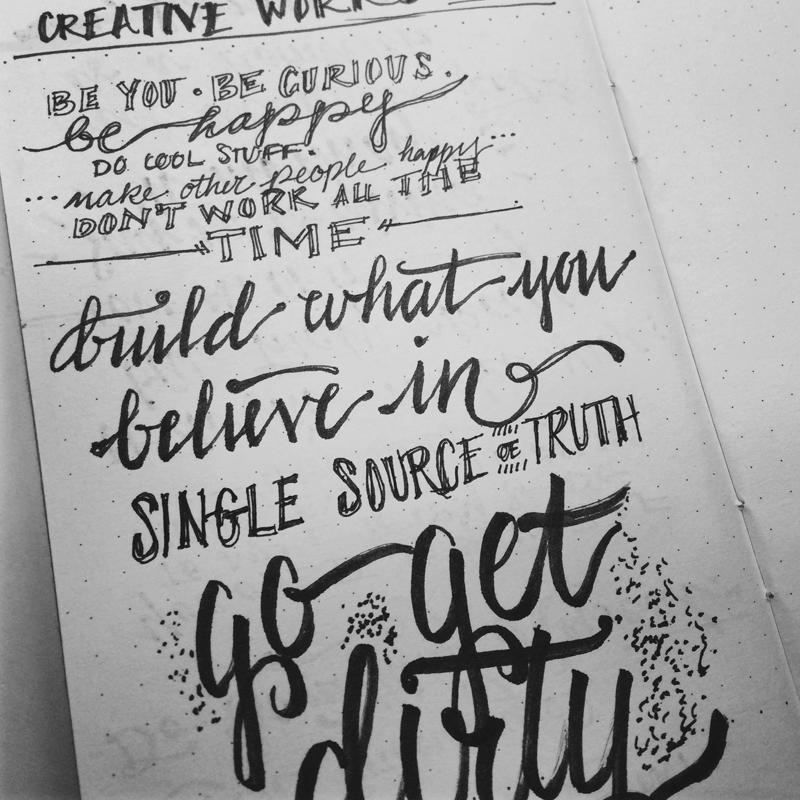 10.06.14  Wisdom from Creative Works day 3— Sasha Barr. Greg Lutze. Jina Bolton. Aaron Draplin.