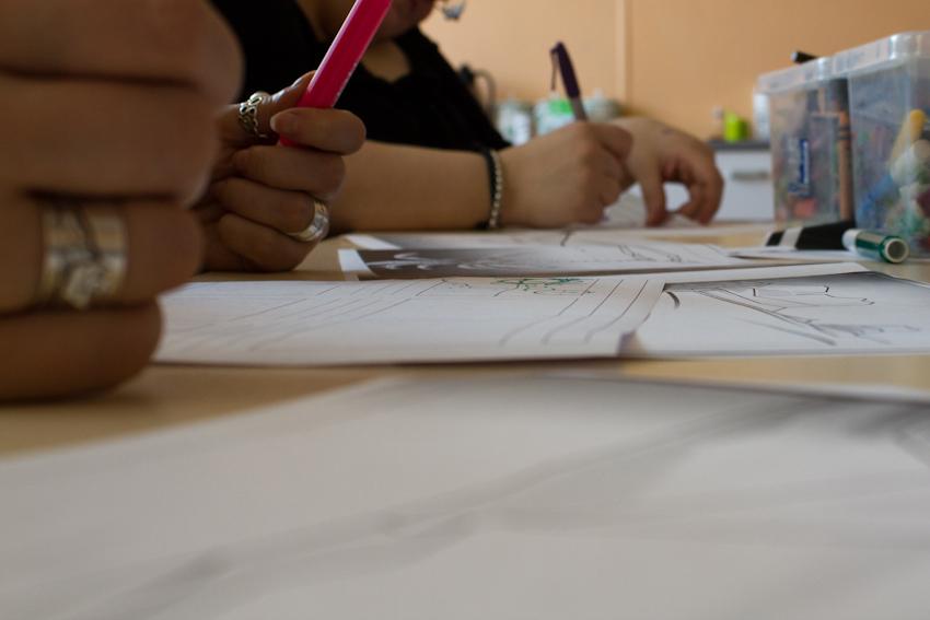 Storyboarding during a workshop