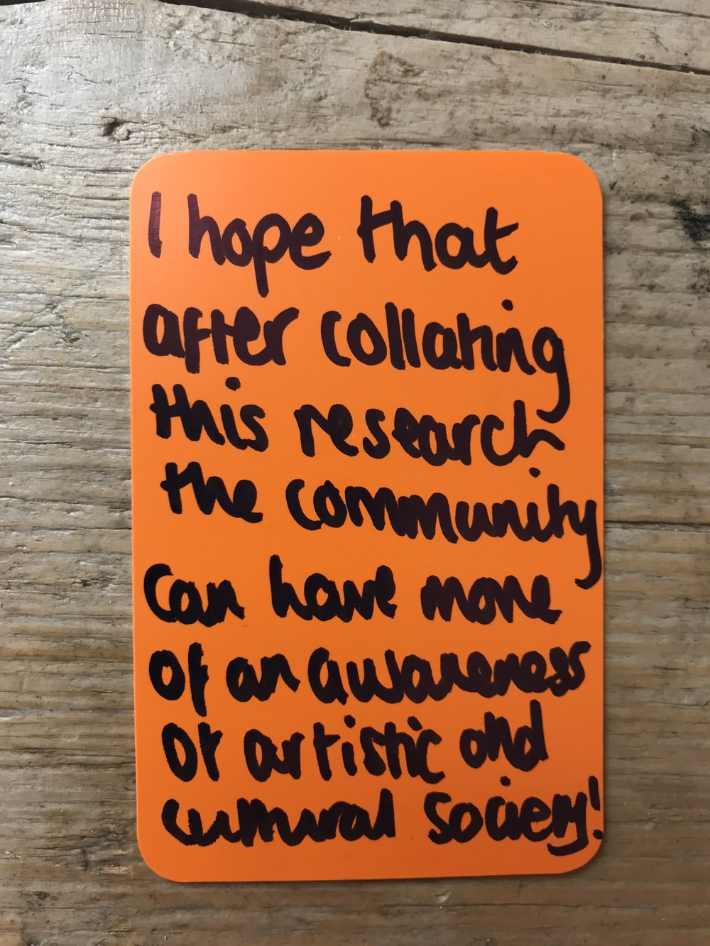 Peer researcher feedback from the Arts Connect commissioned Young Culutral Journeys Research