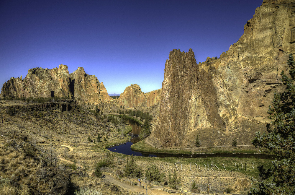 Smith Rock State Park just north of Bend, OR.