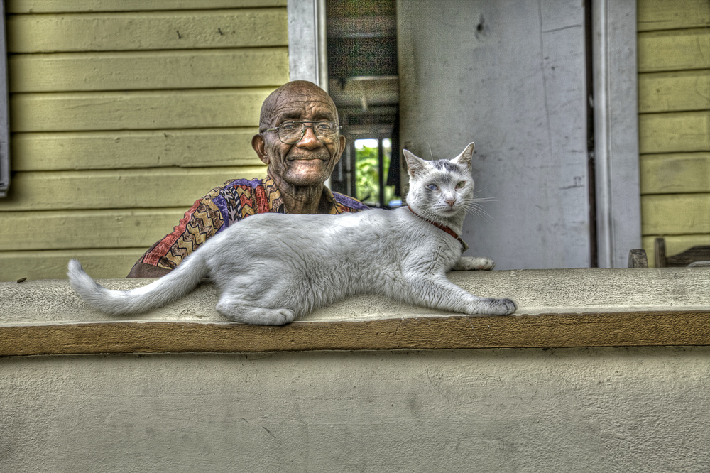 Leonard and his cat, Pussy.