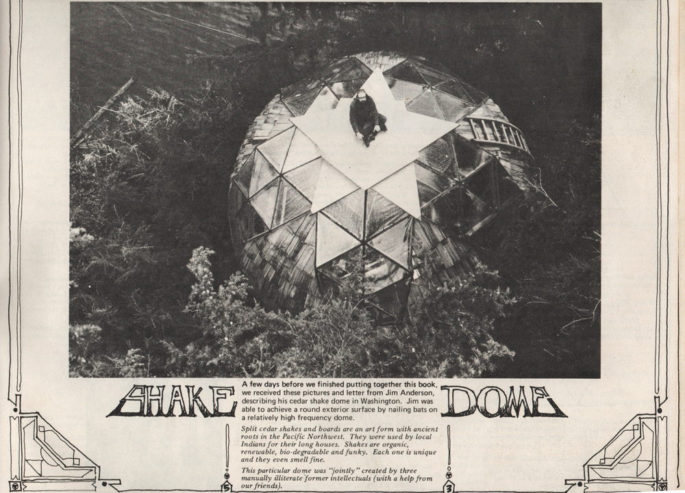 Jim Anderson sitting on top of the Shake Dome c.1971 as it appeared in  Domebook 2