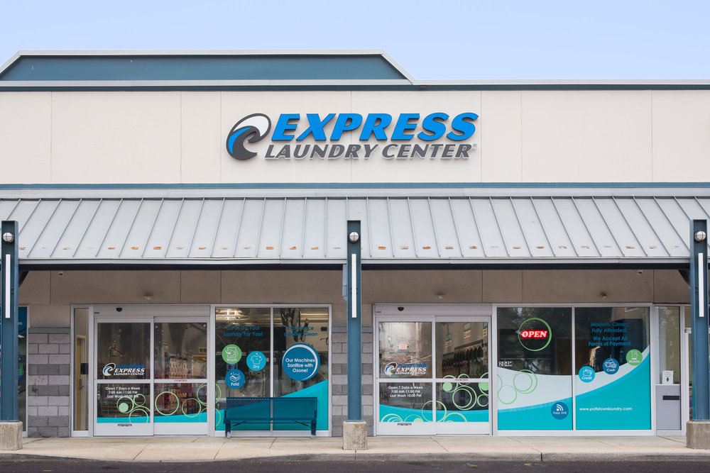 Exterior View of Express Laundry Center – Pottstown, PA