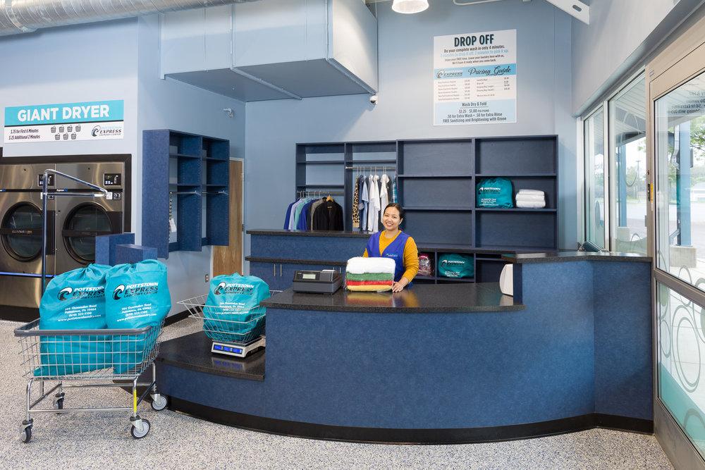Reception Desk, Express Laundry Center – Pottstown, PA