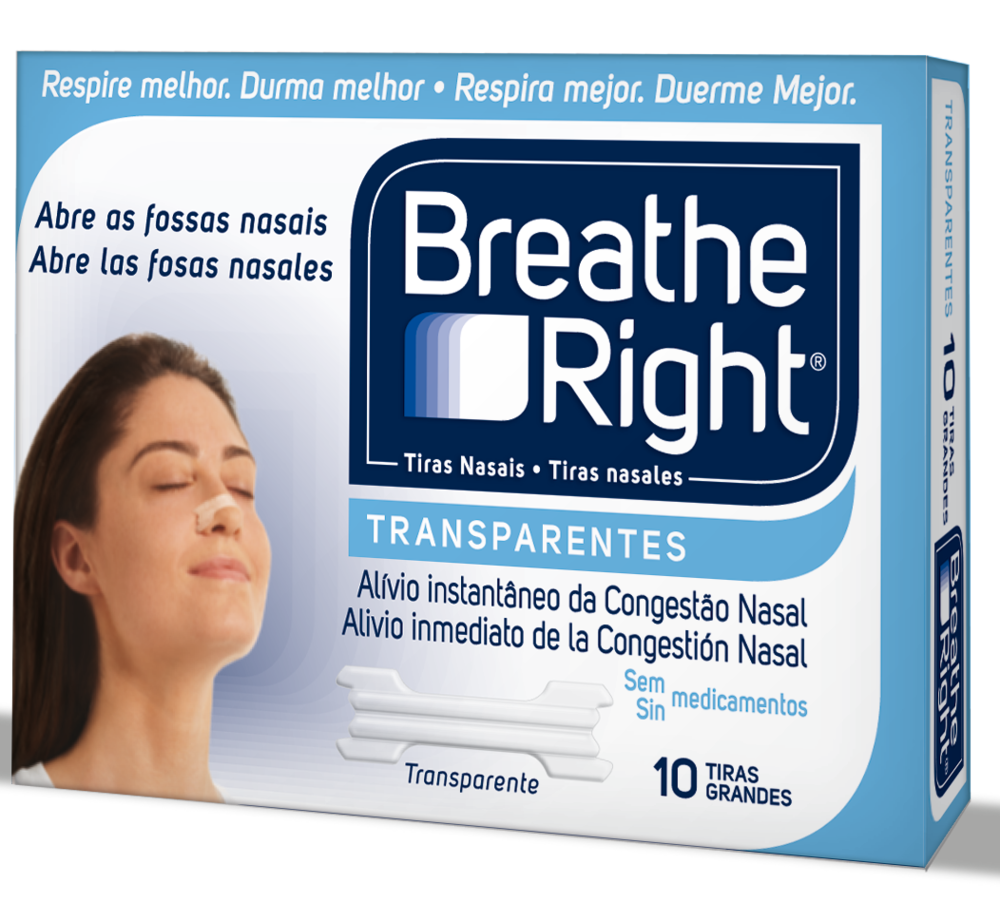 *BREATHE RIGHT* TRANSPARENTES