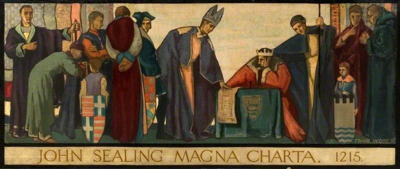 John Sealing the Magna Carta 1215 by Frank Wood from Sunderland Museum & Winter Gardens