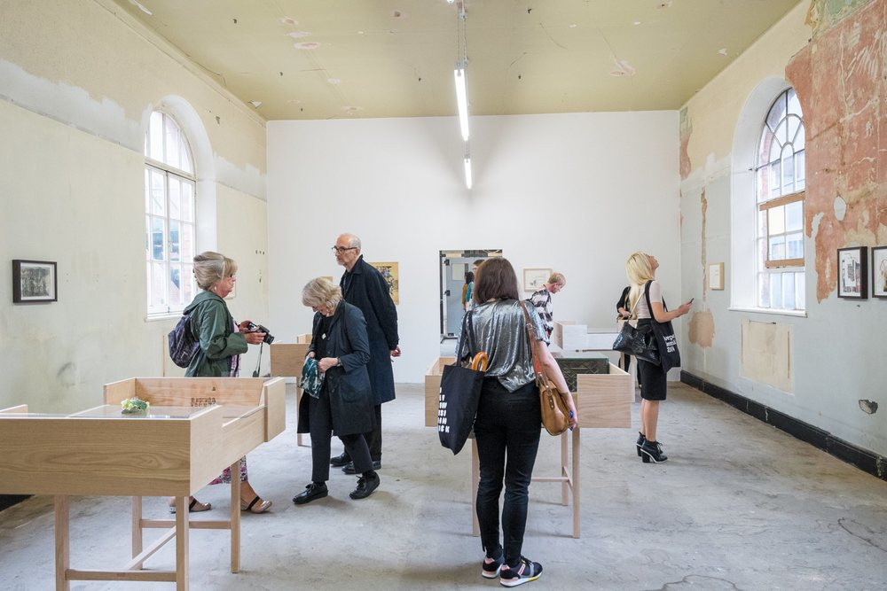 Installation view of Uri Aran's work, The Old Blind School, 2014. Photograph by Mark McNulty