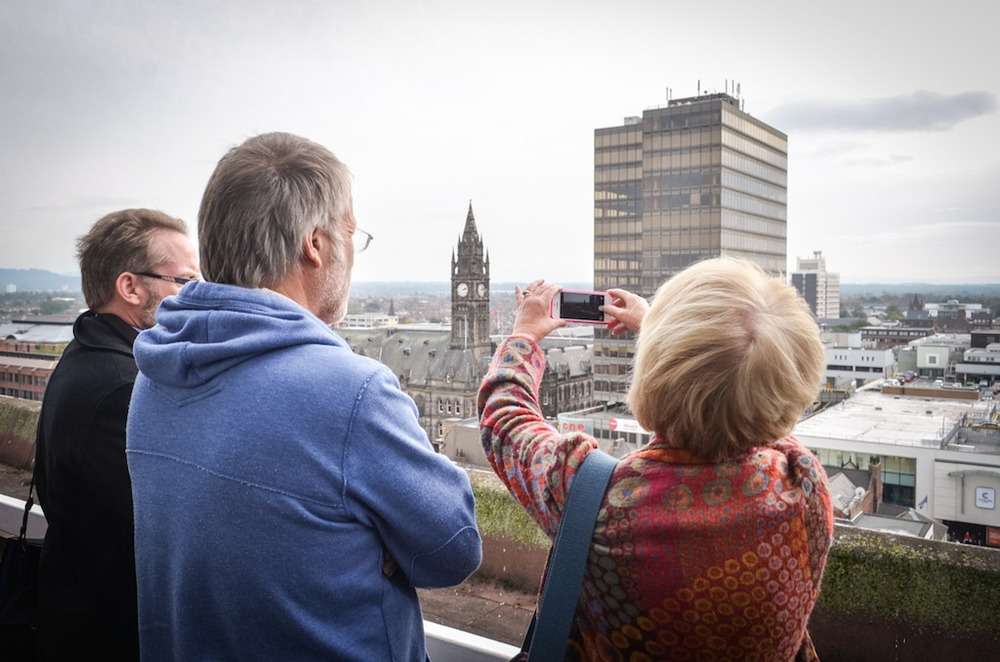 Photograph by Jason Hynes from last years Open Studio rooftop tours