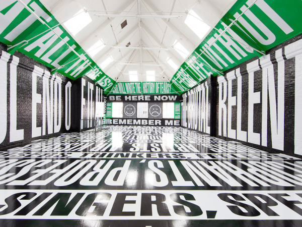 Barbara Kruger installation, Modern Art Oxford