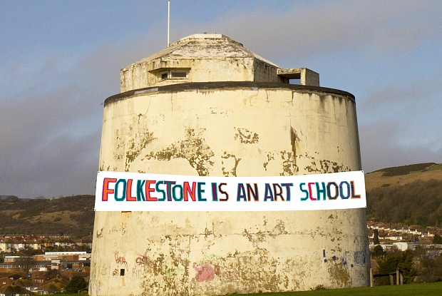 Bob and Roberta Smith, Folkestone Is An Art School. Image: Robert Smith.