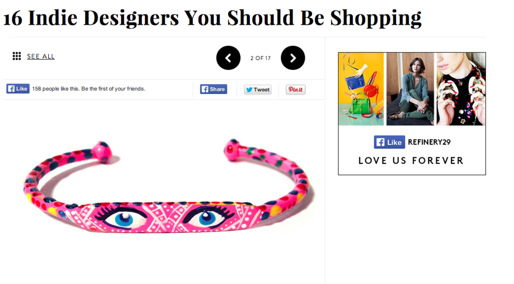 Refinery 29 Nominates Susan Alexandra as an Indie Designer you should be shopping.