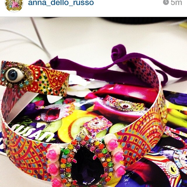 Anna Dello Russo Instagram of Susan Alexandra, June 2014