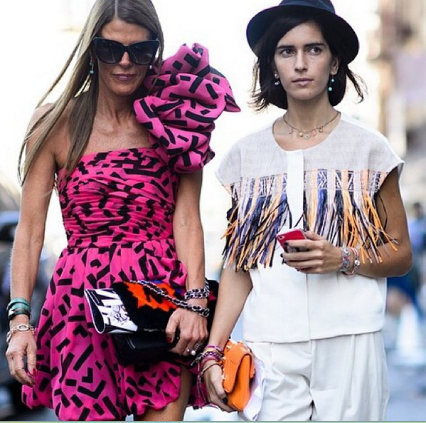 Fashion Editor Chiara Totire in Susan Alexandra jewelry, New York Fashion week
