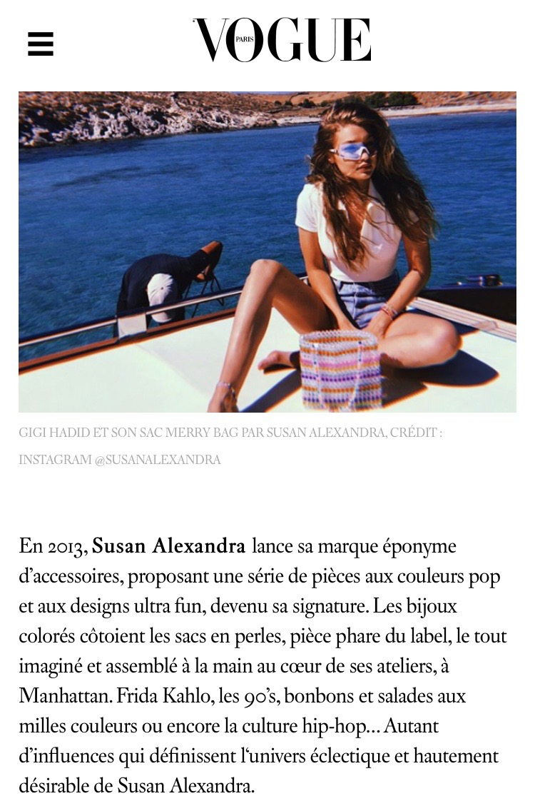 Susan Alexandra in Vogue Paris