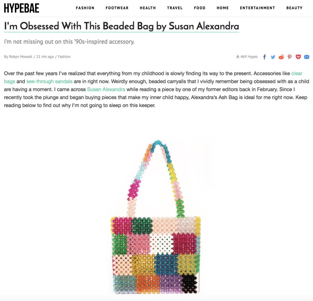 Susan Alexandra featured on HypeBae