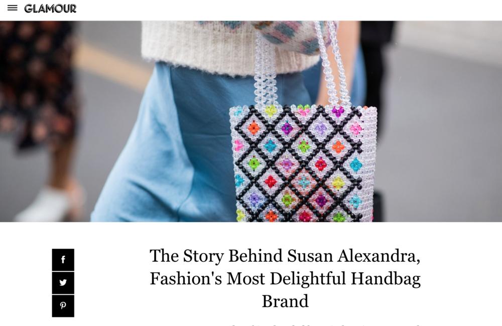 Susan Alexandra in Glamour Magazine