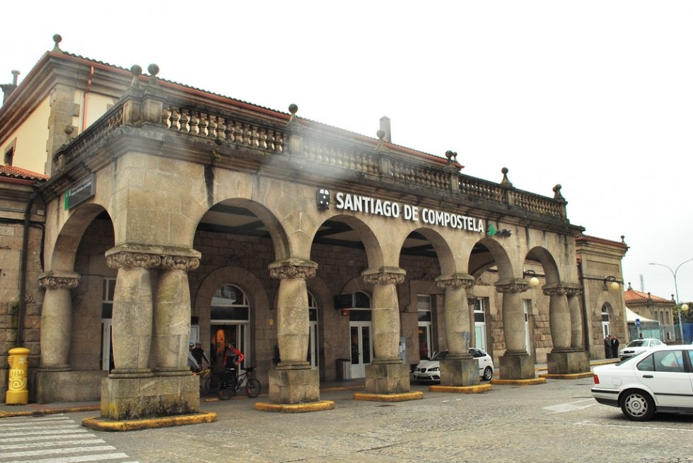 Santiago de Compostela Train Station; photo by David Esteban