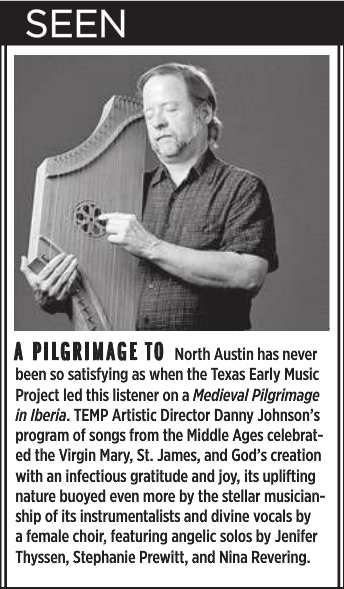 by  Robert Faires ,  Austin Chronicle, 10/16/15