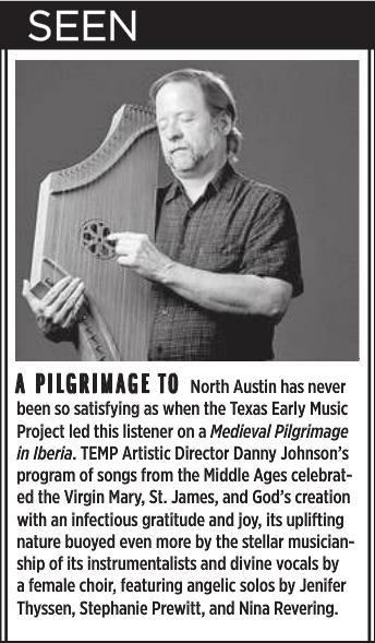 by Robert Faires, Austin Chronicle, 10/16/15