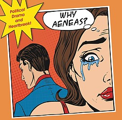 Image: A promotional graphic for Dido & Aeneas, courtesy of SDSU Opera.